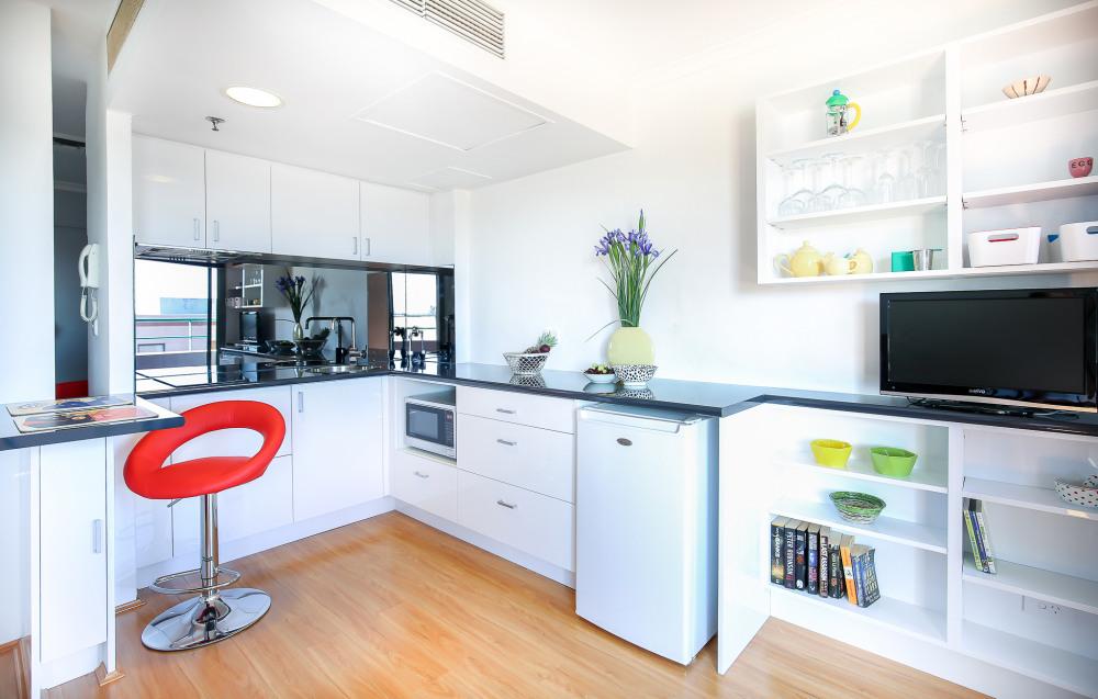 Clean open kitchen