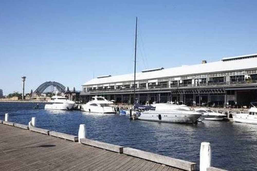Walk to wharf restaurants