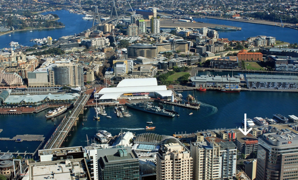 Just minutes from King Street Wharf and the waterfront
