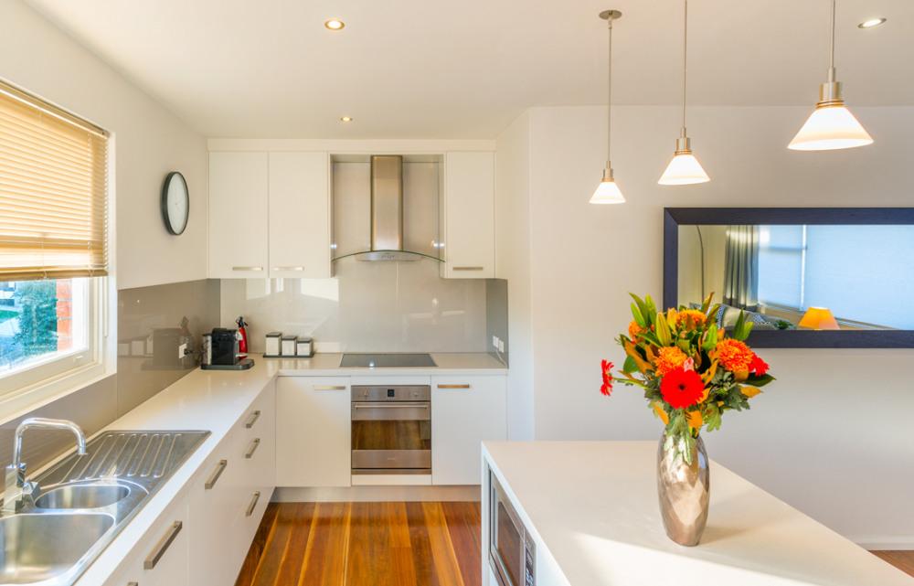 Sunny modern kitchen